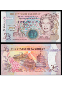GUERNSEY 5 Pounds 2000 Commemorative Fior di Stampa