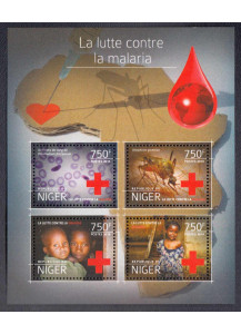 NIGER  BF New Stamps 2014  Red Cross and fight against malaria