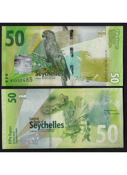 SEYCHELLES 50 Rupees 2016 Fior di Stampa