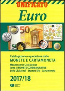 Catalogo Monete e Cartamoneta Euro 2017/18  UNIFICATO